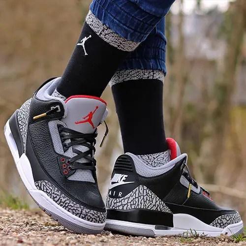 Air Jordan 3 Black Cement Size