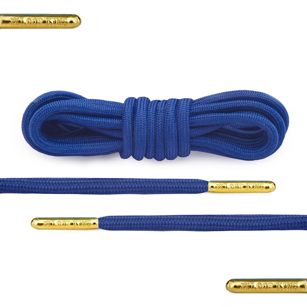blue rope round shoelaces