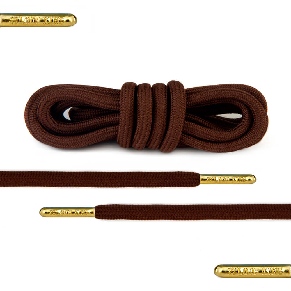 dark brown rope round shoelaces