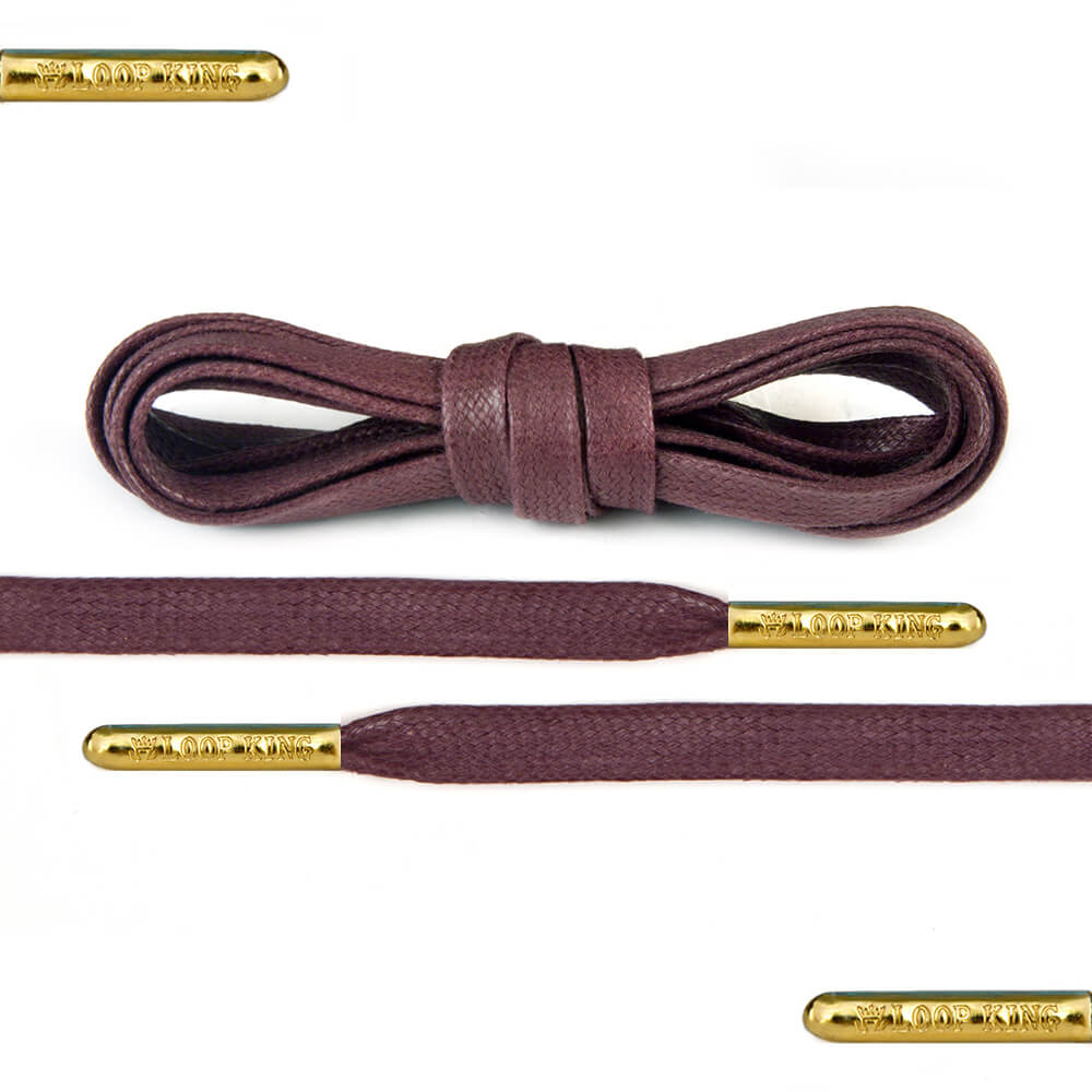 flat waxed light brown shoe laces