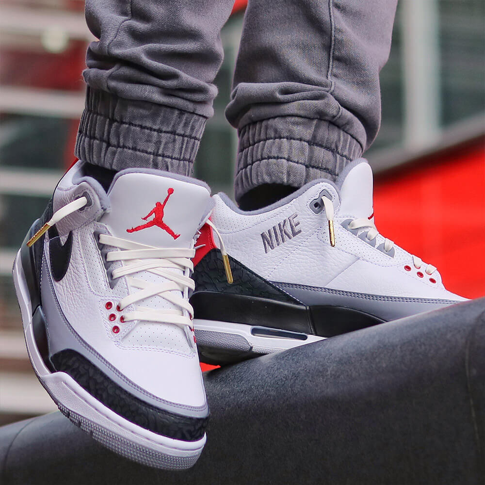 white leather shoelaces on jordan 3s 2