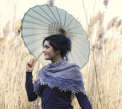 Cladonia by Kirsten Kapur from Shawl Book One. Photography Gale Zuker