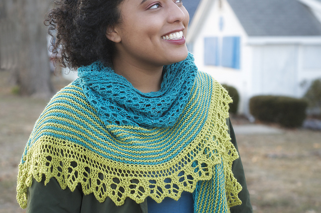 Roma Shawl by Kirsten Kapur from Shawl Book One. Photography Gale Zuker.