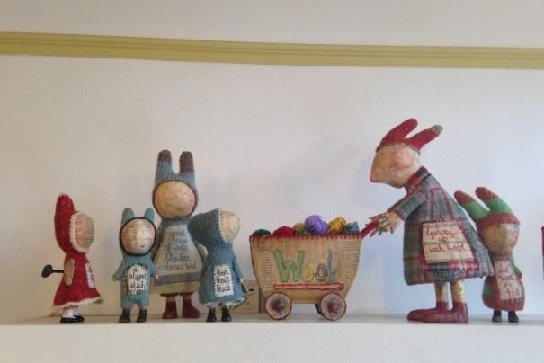 Julie Arkell at Loop. Group of Figures, Growing up with wool. Loop, London. www.loopknitlounge.com