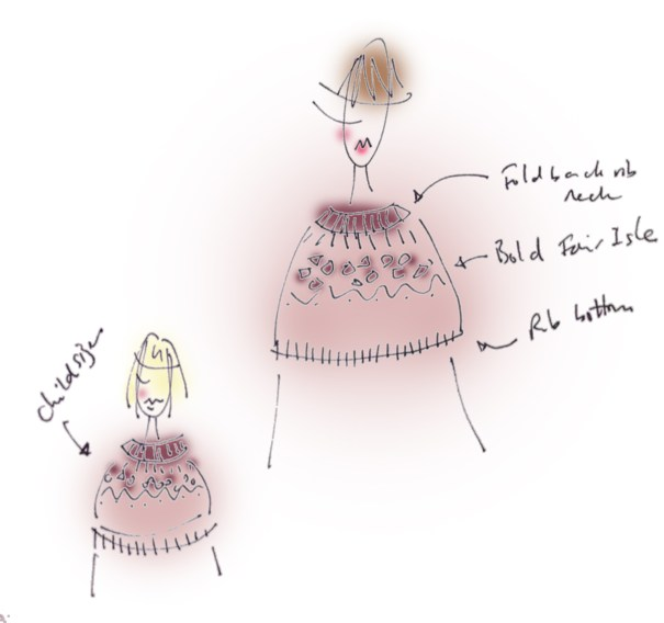 Claire's sketch for the cape