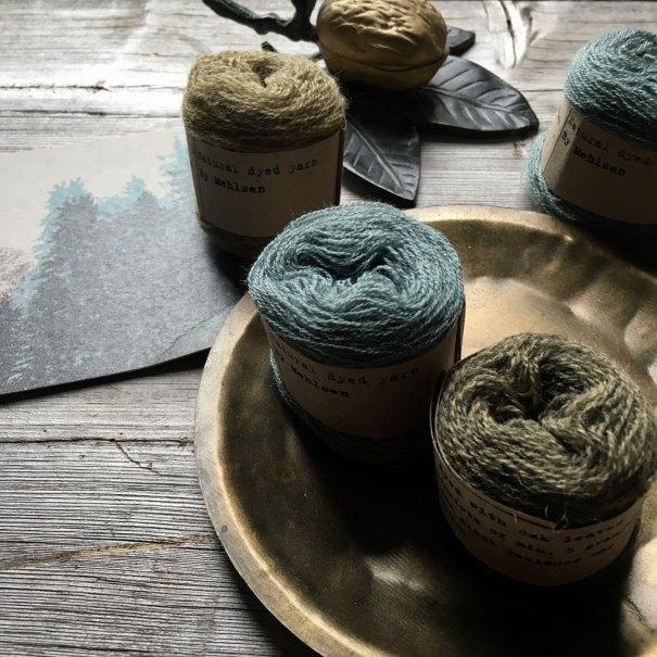 Plant dyed wool yarn by Mette Mehlsen for Loop London.