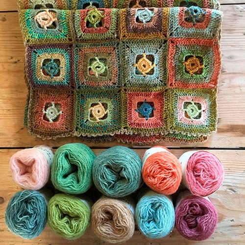 Plant Dyed wool yarns by Mette Mehlsen at Loop London