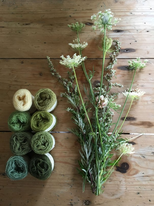 Balls of plant dyed wools by Mette Mehlsen for Loop London