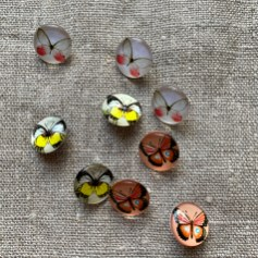Resin Butterfly buttons at Loop London
