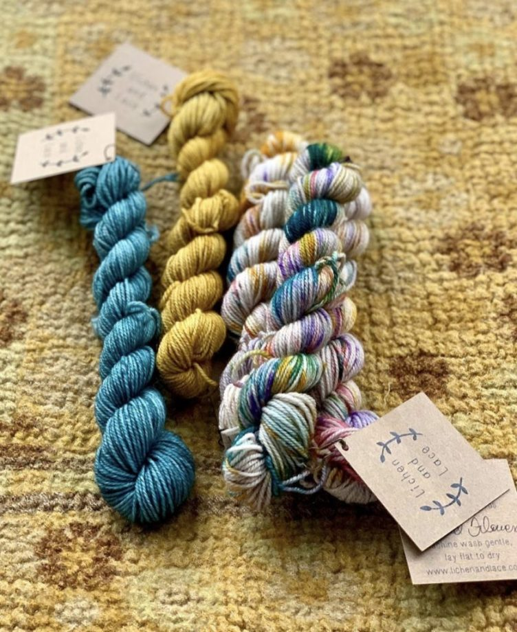 Lichen and Lace sock minis at Loop London