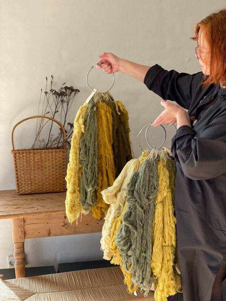 Naturally dyed yarn at Loop London