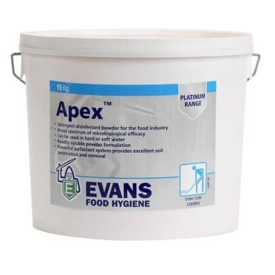 Evans - APEX Chlorinated Detergent Powder - 15kg