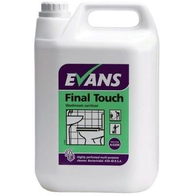 Evans - FINAL TOUCH Washroom Sanitiser - 5 litre