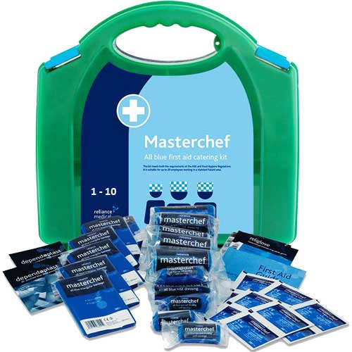 First Aid 1 - 10 Person Food Hygiene Kit, All Blue from Loorolls.com