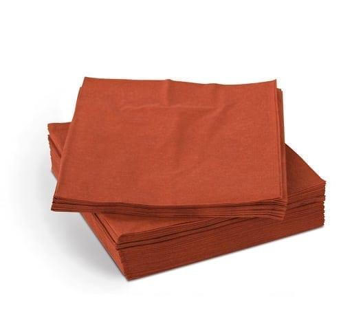 Loorolls.com Terracotta Napkins 40cm 2ply 4 Fold