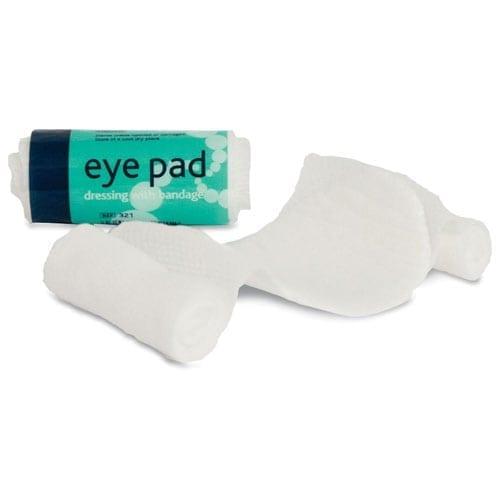 Eye Pad with Bandage Boxed No 16 10pk loorolls