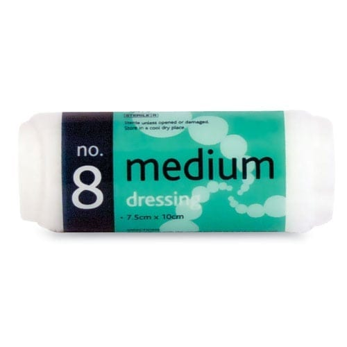 Sterile Medium Dressing No 8 10pk