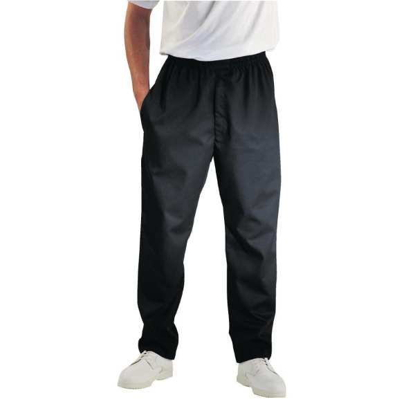 Chef Works Unisex Easyfit Pants Black (Teflon Coated) Polycotton - Size M-0