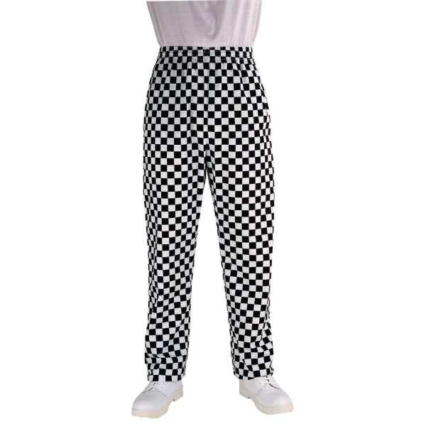 Chef Works Unisex Easyfit Pants Big Black Check Polycotton - Size S-0