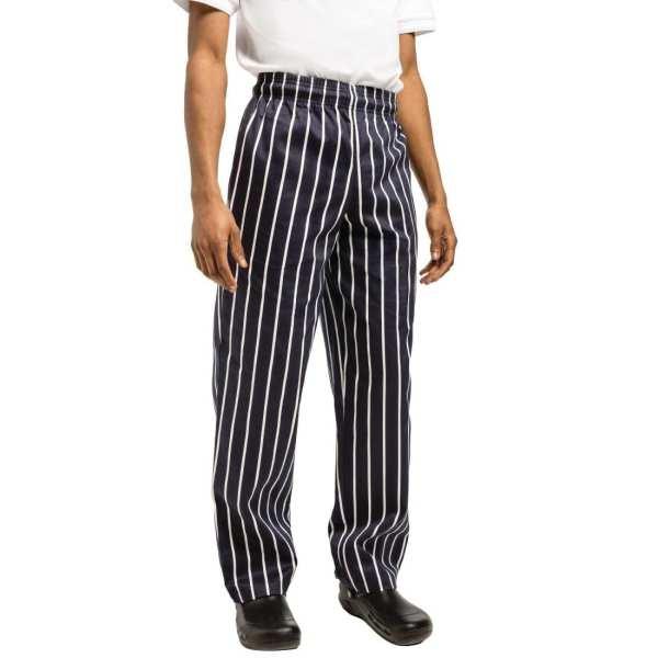 Chef Works Unisex Easyfit Pants Butchers Stripe Cotton - Size XS-0