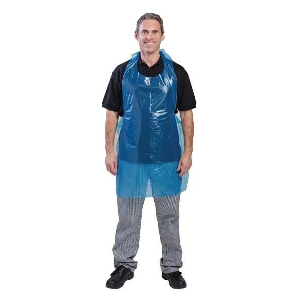 Disposable Aprons Blue Polythene (Bag 100)-0