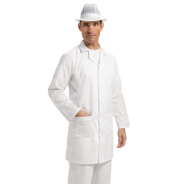 Whites Unisex Coat White Polycotton - Size S-0
