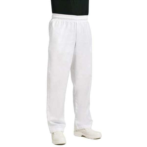Chef Works Unisex Easyfit Pants White Polycotton - Size XXL-0