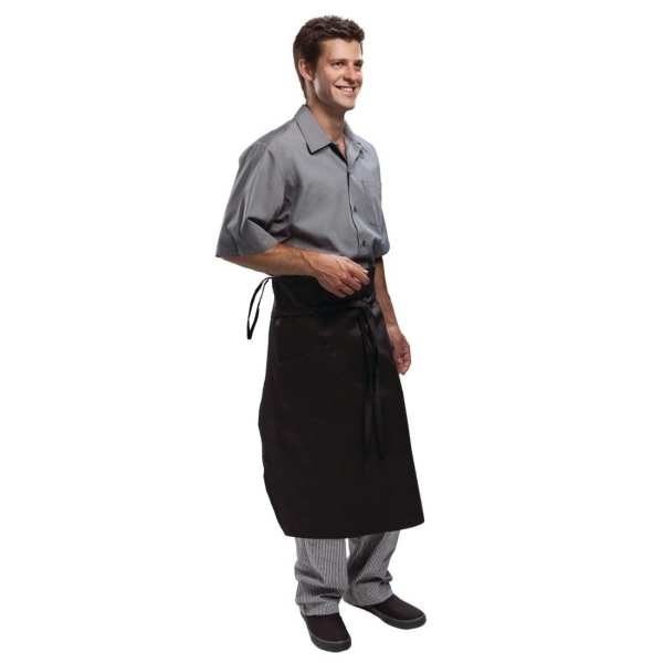 Chef Works Executive Chefs Tapered Apron Black-0
