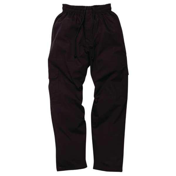 Chef Works J54 Cargo Pant Black (CPBL) - Size M (B2B)-0