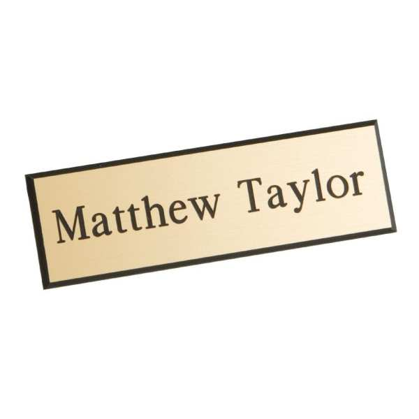 Name Badge Gold with Black Text-0