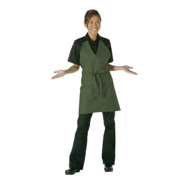 Uniform Works Unisex Tuxedo Apron Moss-0