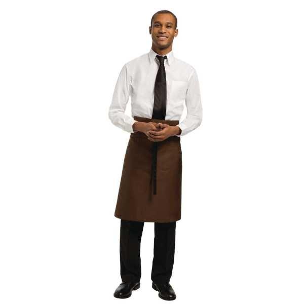 Uniform Works Bistro Apron Chocolate - 1000x700mm-0