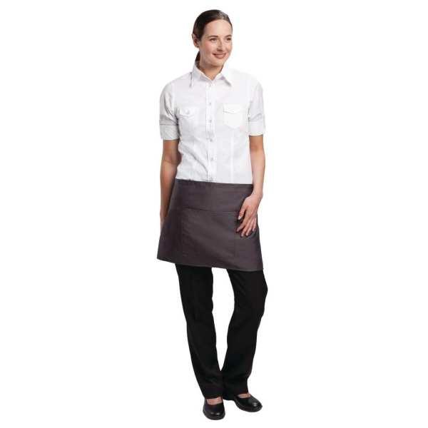 Uniform Works Bistro Apron Charcoal - 750x373mm-0