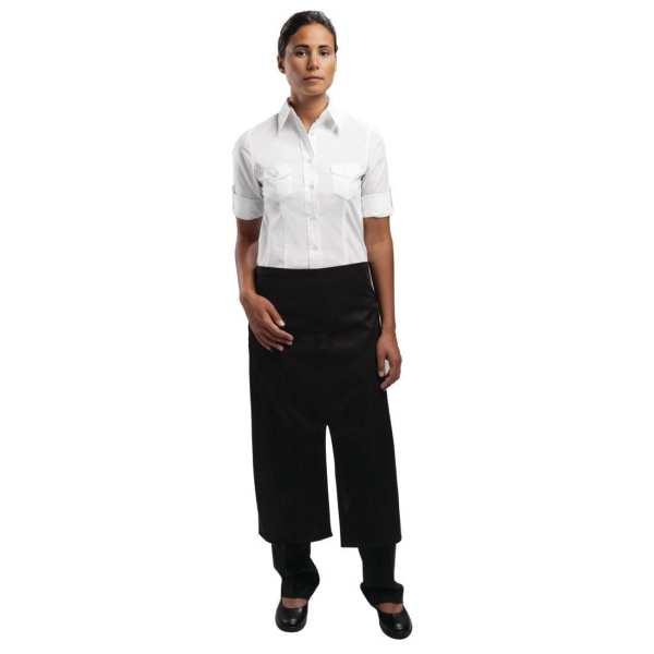 Uniform Works Split-front Bistro Apron Black with Pocket-0