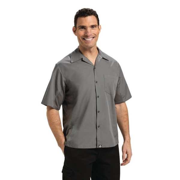 Chef Works Cool Vent Chef Shirt Polycotton Grey - Size XL (B2B)-0