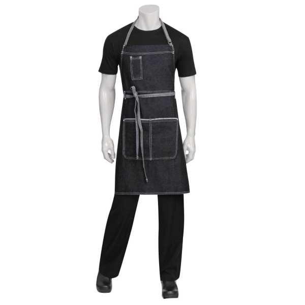 Chef Works Bronx Bib Apron (AB041) Black (B2B)-0