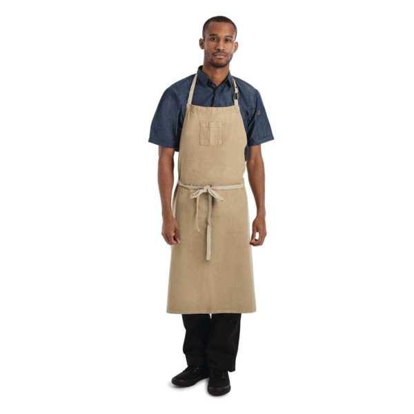 Chef Works Austin Denim Wide Bib Apron Natural (B2B)-0