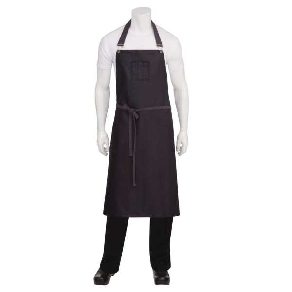 Chef Works Wet Look Boulder Wide Bib Apron Purple/Black (B2B)-0