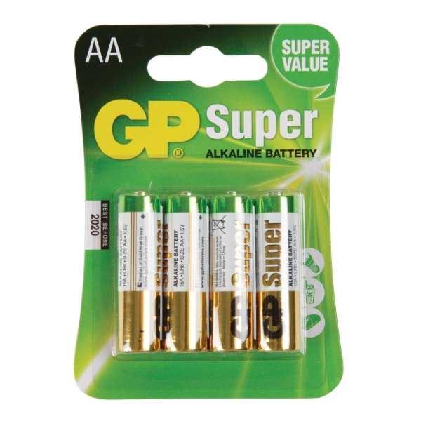 GP Battery Alkaline 'AA' (Pack 4)-0