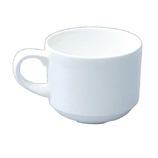 Churchill Alchemy White Coffee Cup Stacking - 6oz (Box 24) (Direct)-0