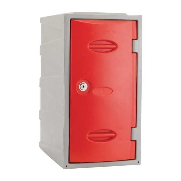 Extreme Modular Plastic Locker - 600mm high Red Camlock (Direct)-0