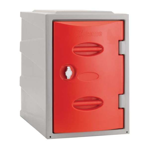 Extreme Modular Plastic Locker - 450mm high Red Hasp & Staple Lock (Direct)-0