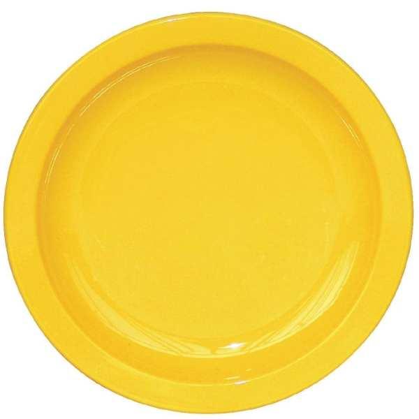 """Kristallon Polycarbonate Plate Yellow - 172mm 6 3/4"""" (Box 12)-0"""