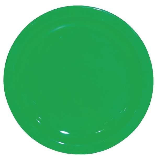 "Kristallon Polycarbonate Plate Green - 230mm 9"" (Box 12)-0"