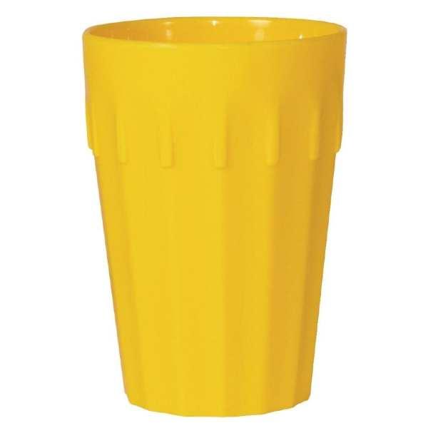 Kristallon Polycarbonate Tumbler Yellow - 260ml 9oz (Box 12)-0