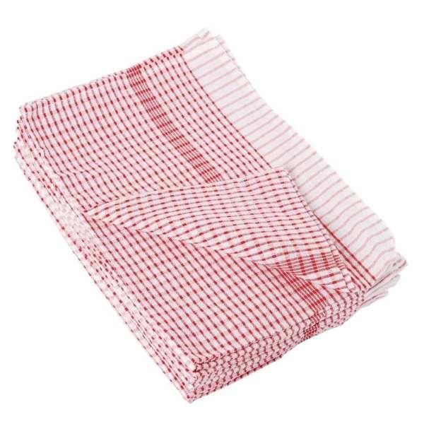 Wonderdry Tea Towel Red - 762x508mm (Pack 10)-0
