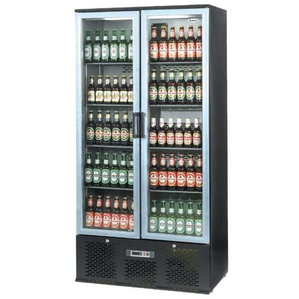 Infrico Full Height Back Bar Chiller Double Door Charcoal with Alu Door (Direct)-0