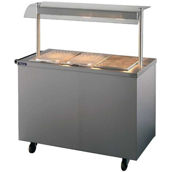 Victor Crown Bains Marie Hot Cupboard Mobile with Quartz Heated Gantry (Direct)-0