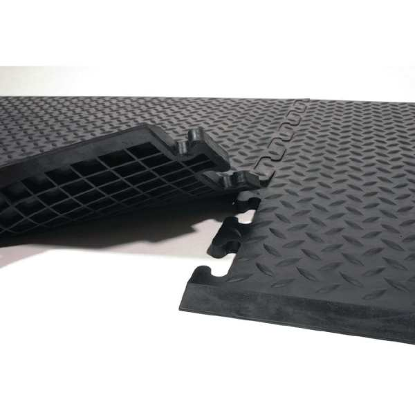 Rubber Safe Lock Matting with Black Rubber Ramps Middle (Direct)-0