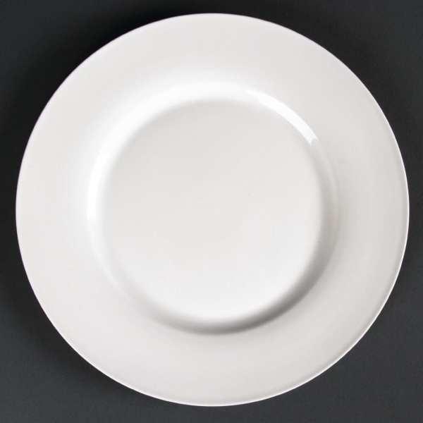 Lumina Fine China Wide Rimmed Round Plate - 226mm 9'' (Box 6)-0